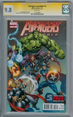 Avengers Assemble #3 CGC 9.8 Signature Series Signed Mark Bagley Marvel comic
